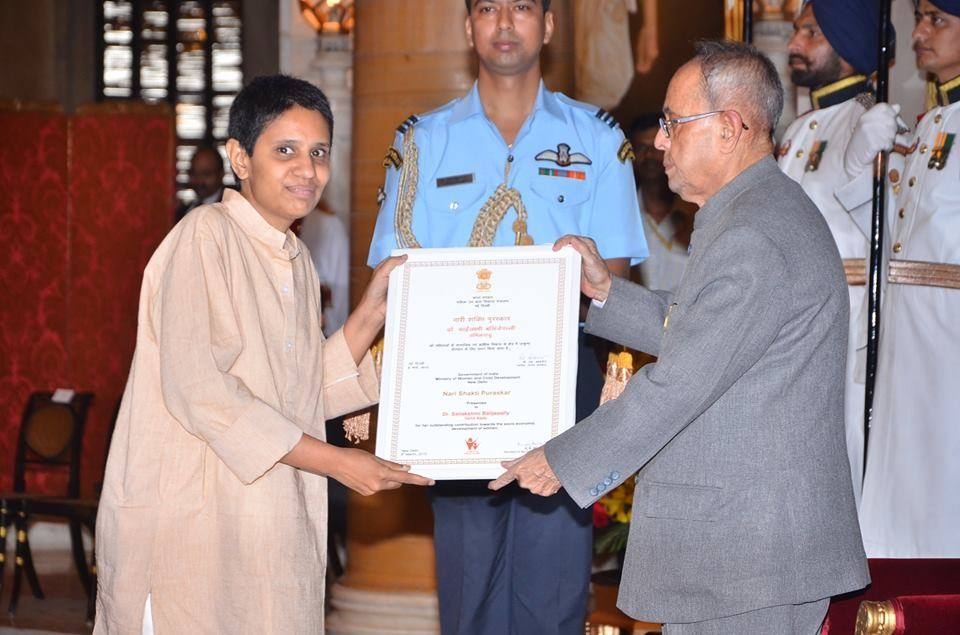 Dr. Sai received award from President of India